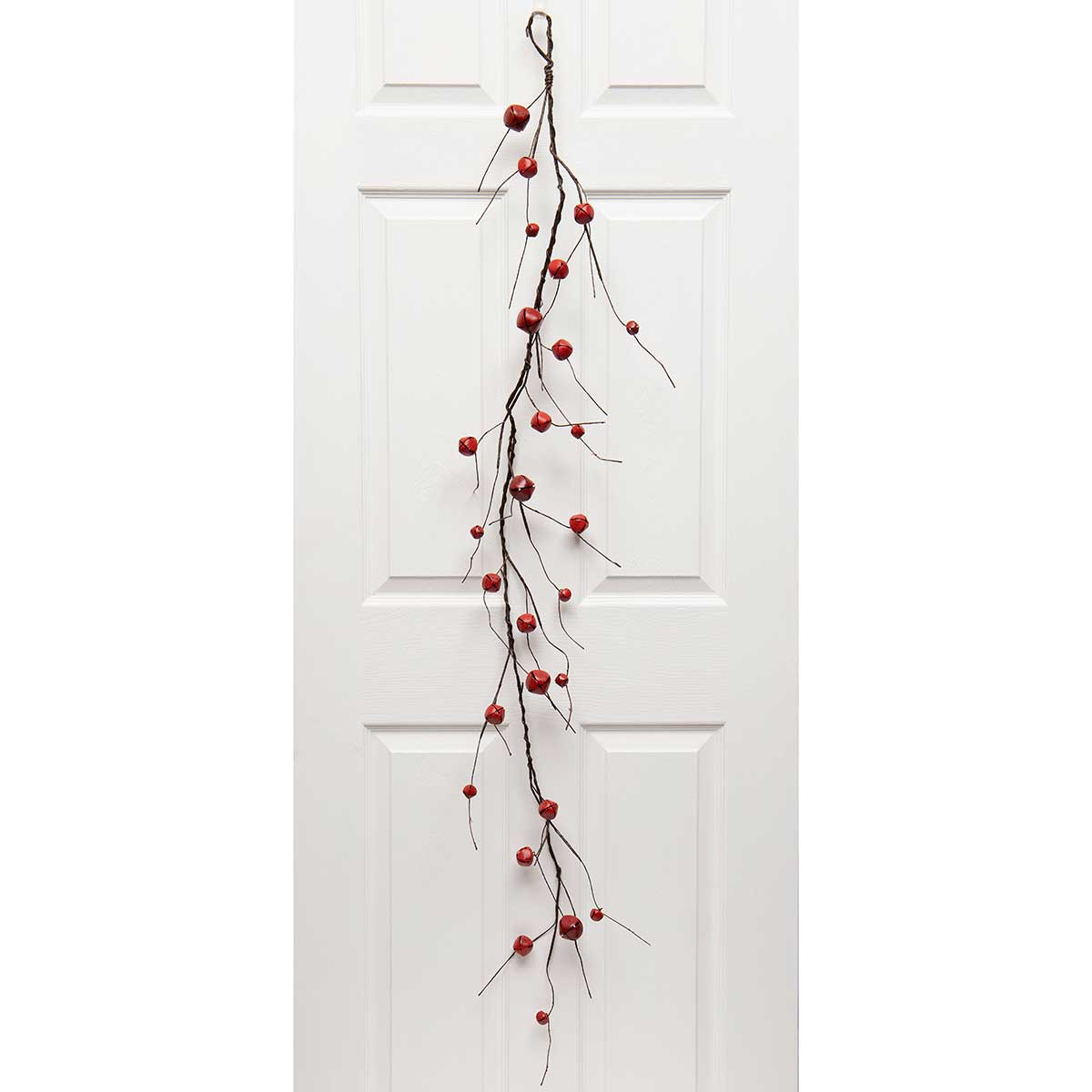 "RED JINGLE BELL GARLAND 7""X5'"