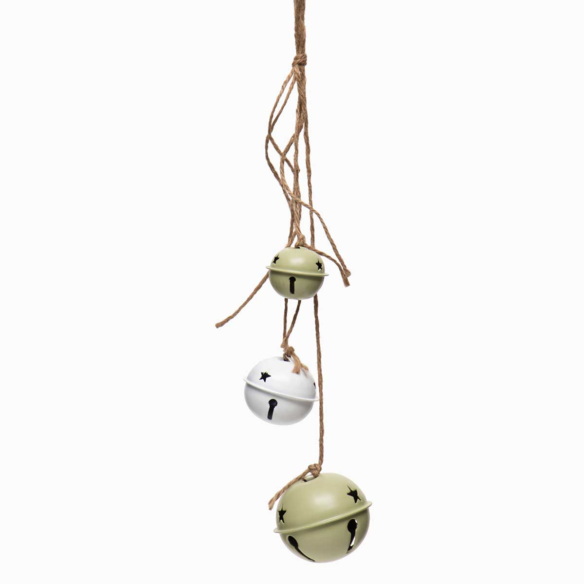 GREEN/WHITE JINGLE BELL WITH STAR