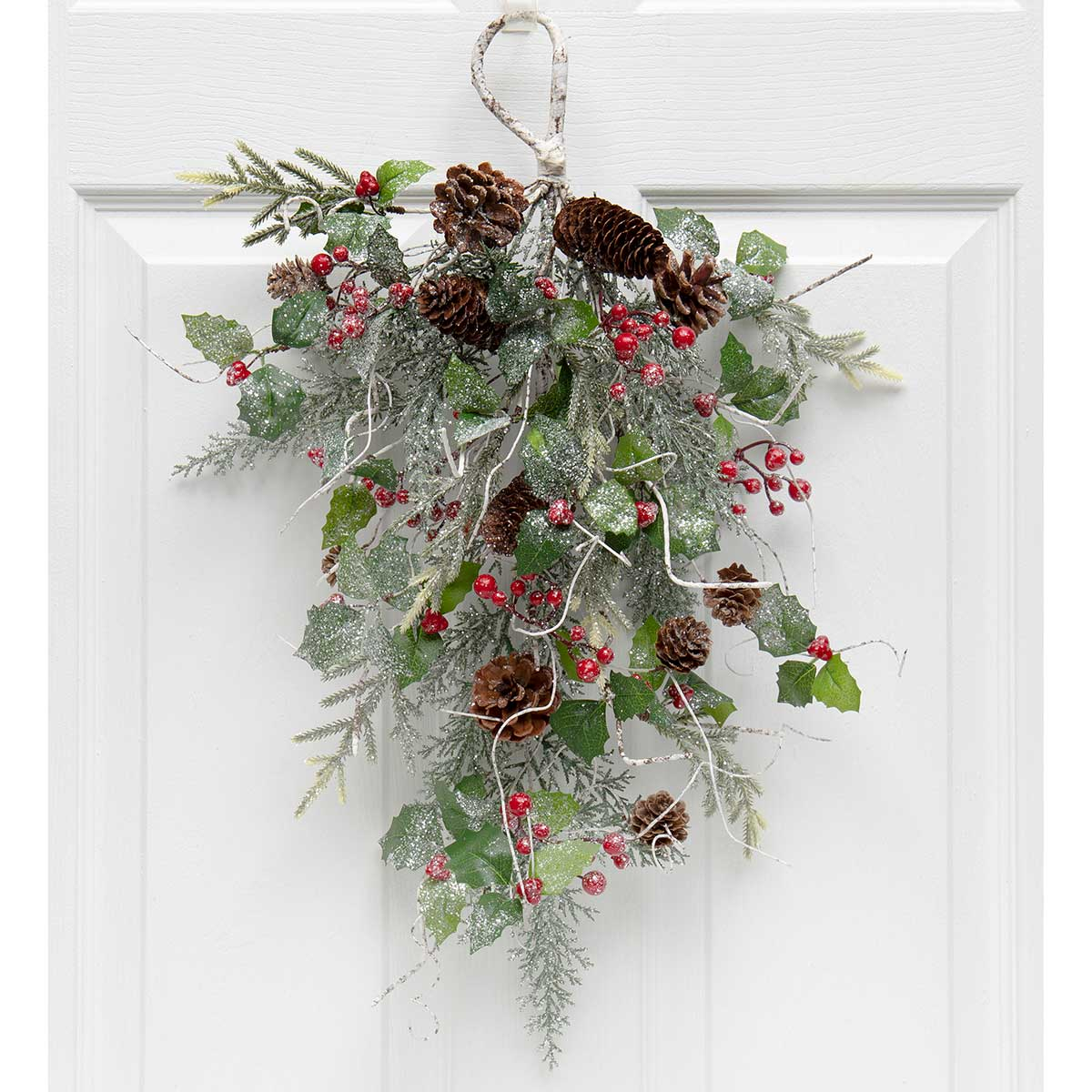 BIRCH & PINE BOUGH WITH HOLLY,