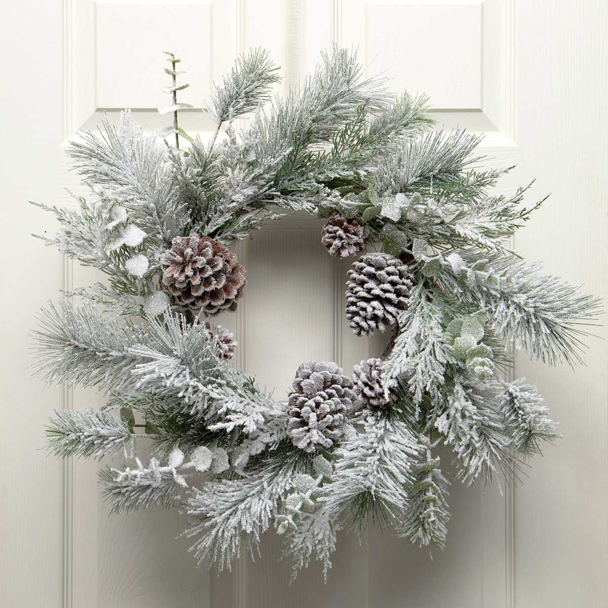 FROSTED PINE & EUCALYPTUS WREATH