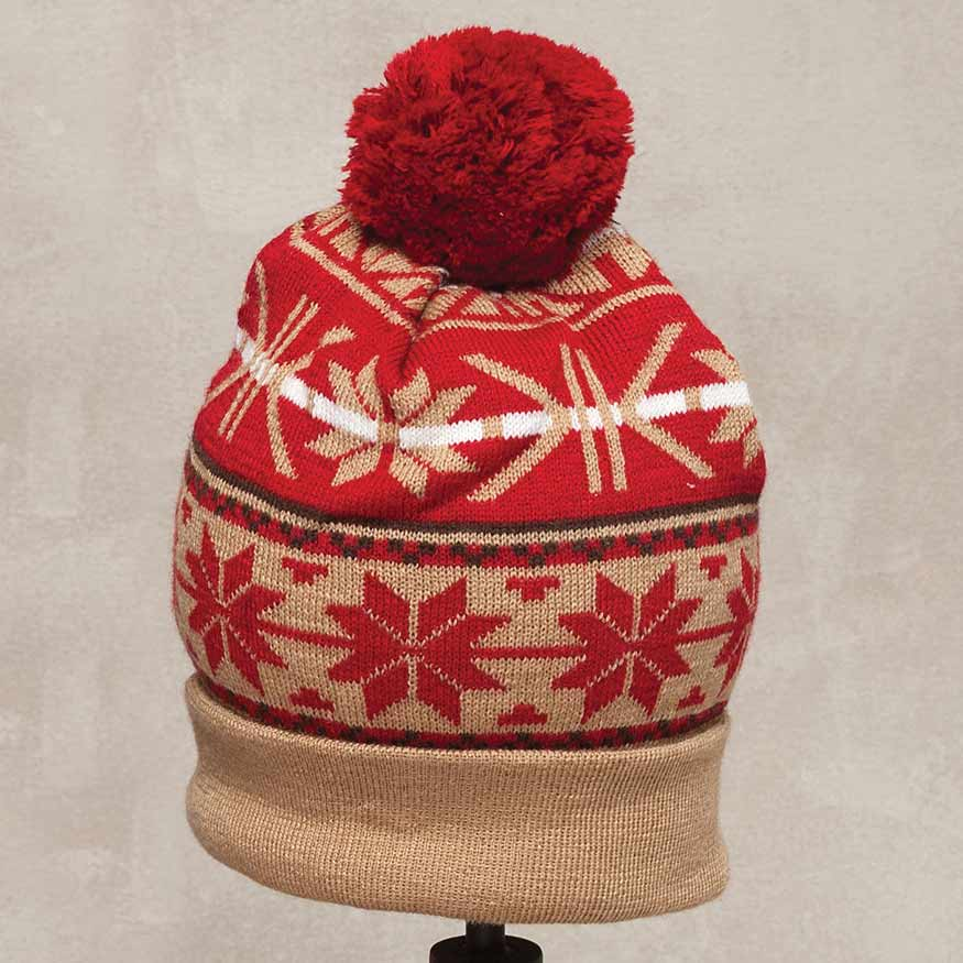 Red Scandia Knit Hat *30sp