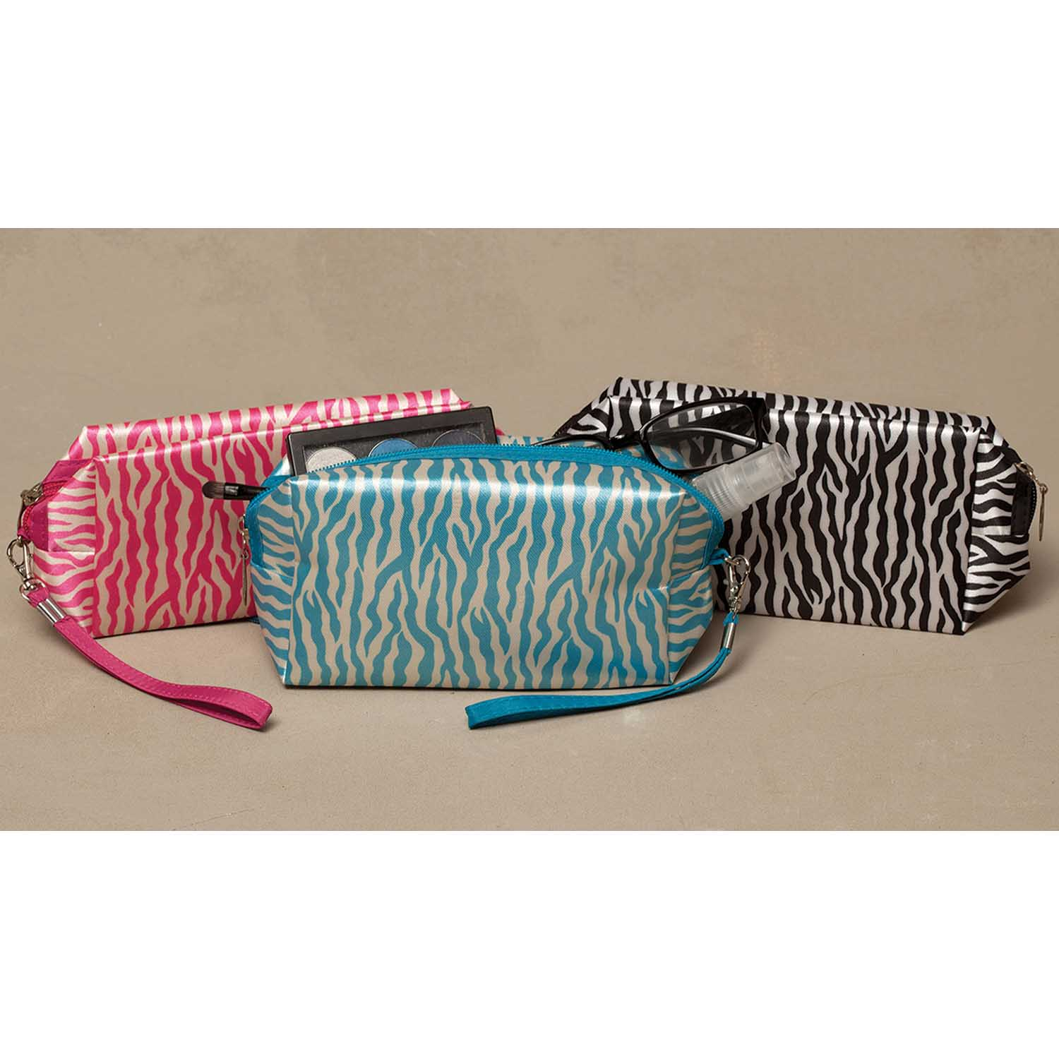 Zebra Rectangle Accessory Bag 3 Assorted *30sp