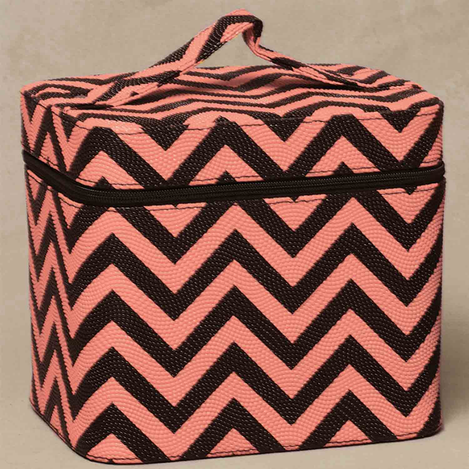 "CHEVRON RECTANGLE RETRO CASE MELON/BLACK 9.25""X7""X8"" X7246 *30sp"