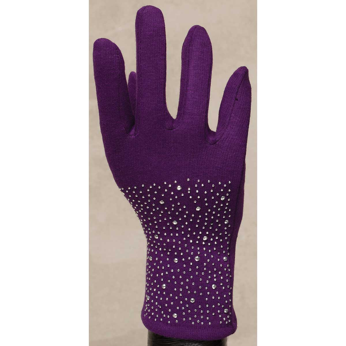 Purple Gloves with Pave Crystals *30sp