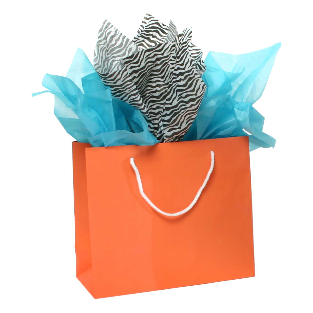 PAPER SHOPPING BAG WITH HANDLE CORAL