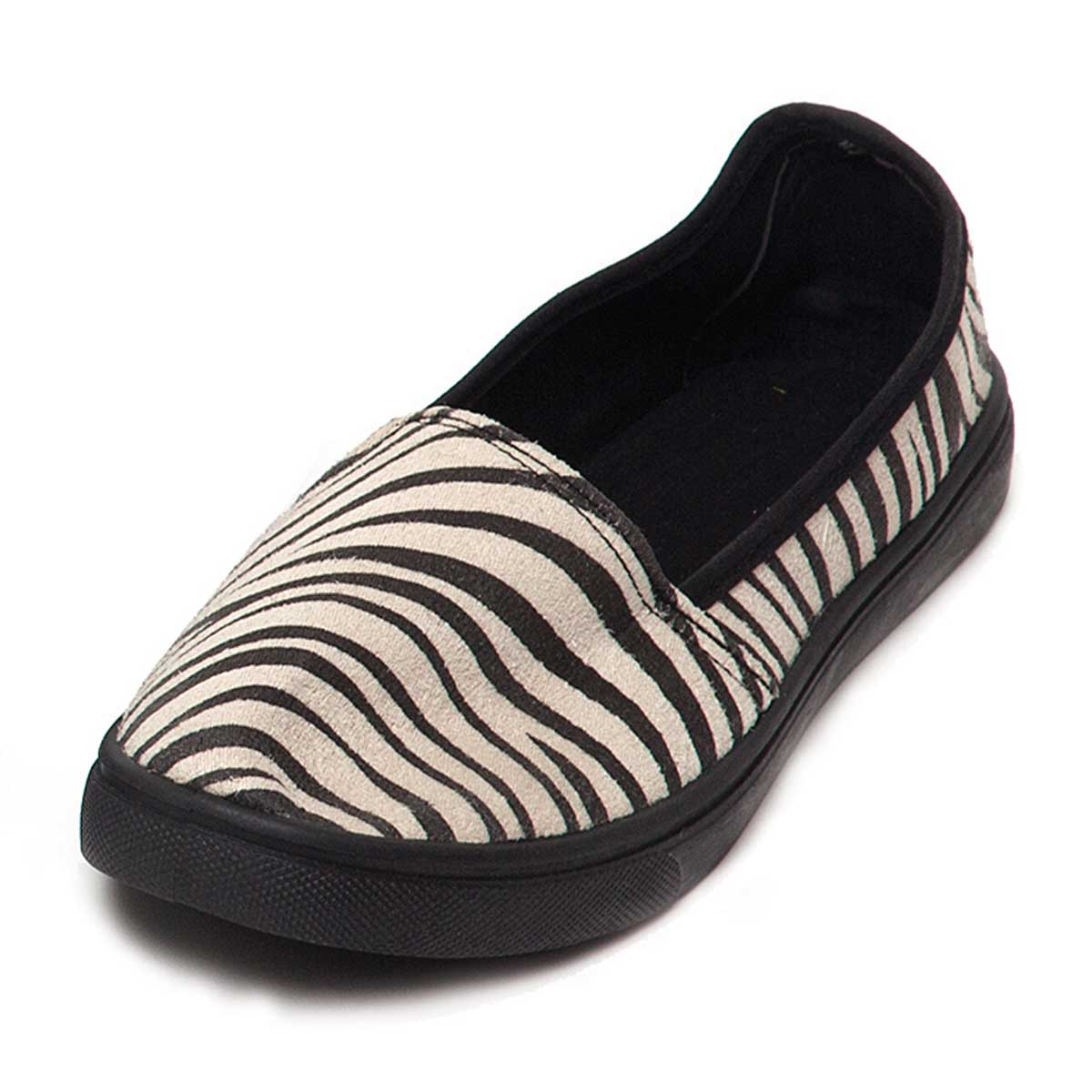 Black/Cream Zebra Espadrille Size 6