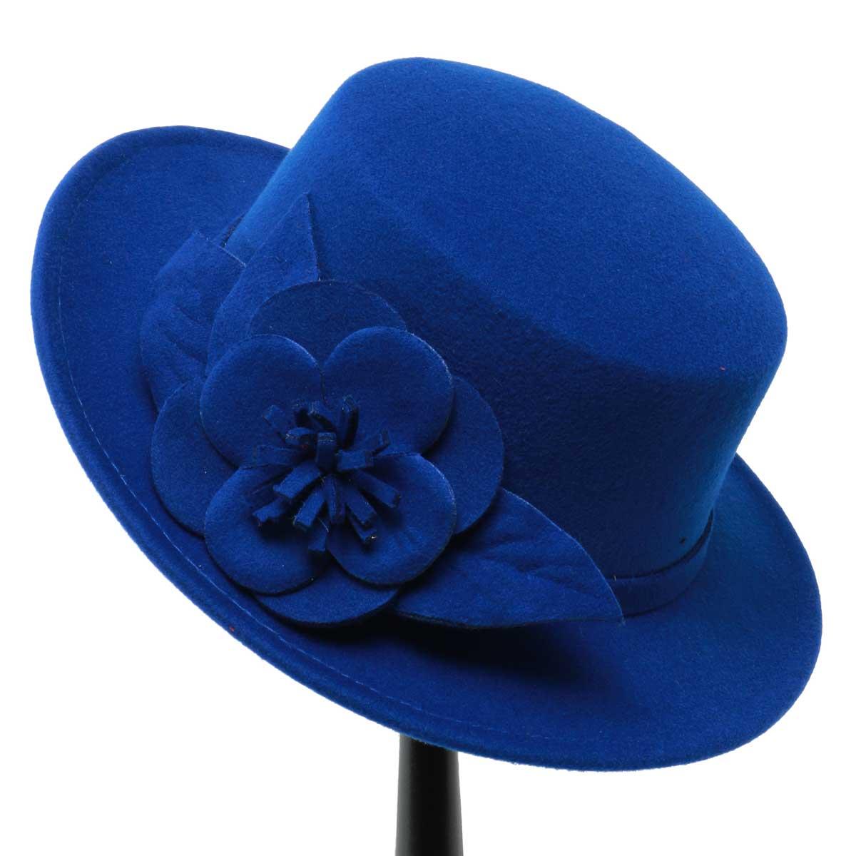 BLUE GAINSBOROUGH HAT 50sp
