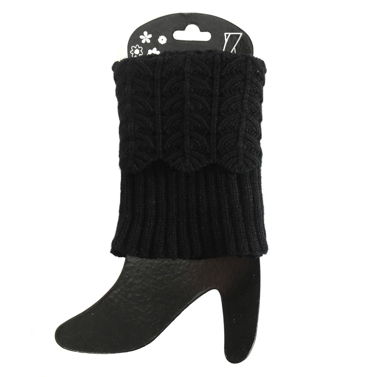 Black Crochet Boot Cuff Short