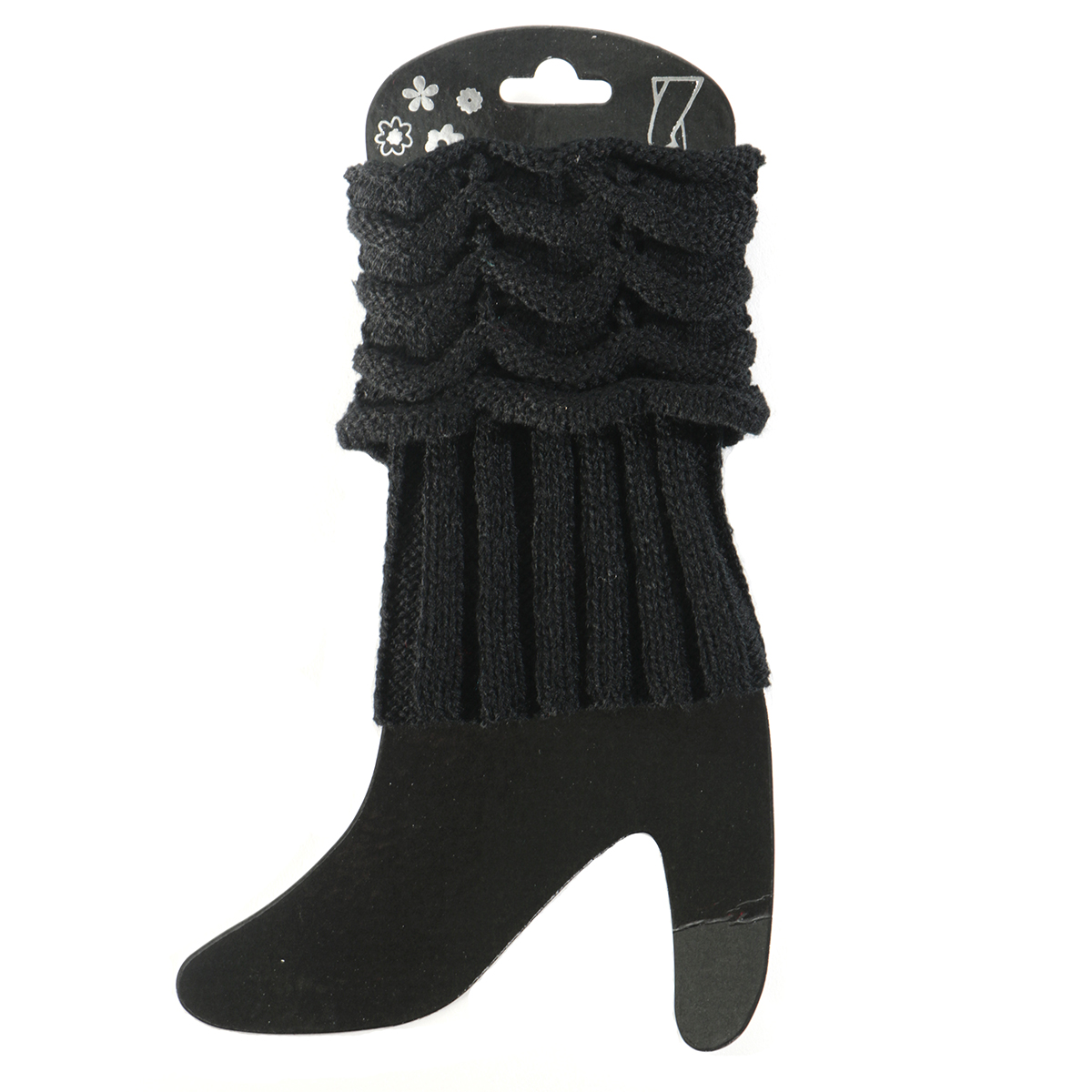 Black Scrunched Boot Cuff