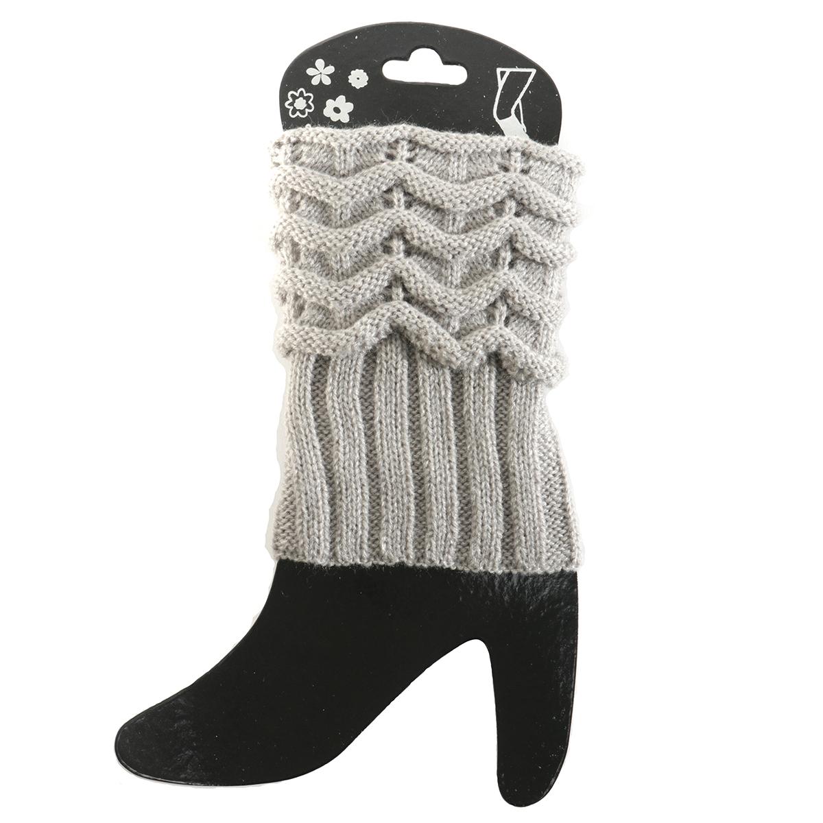 Grey Scrunched Boot Cuff