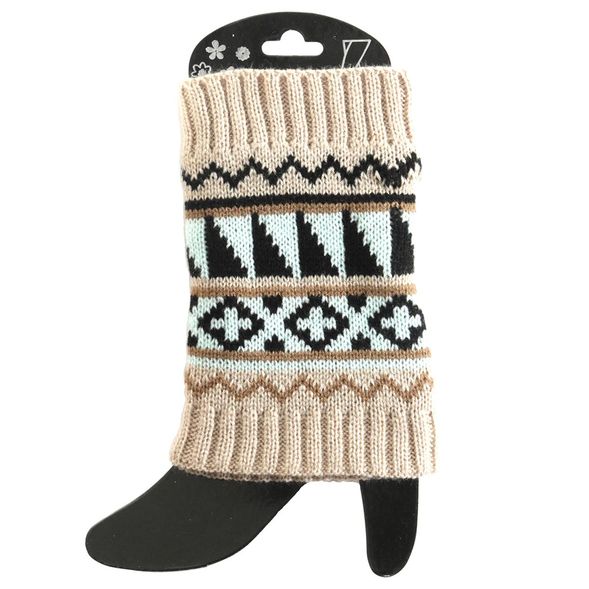Tan/Ming Sweater Boot Cuff Short