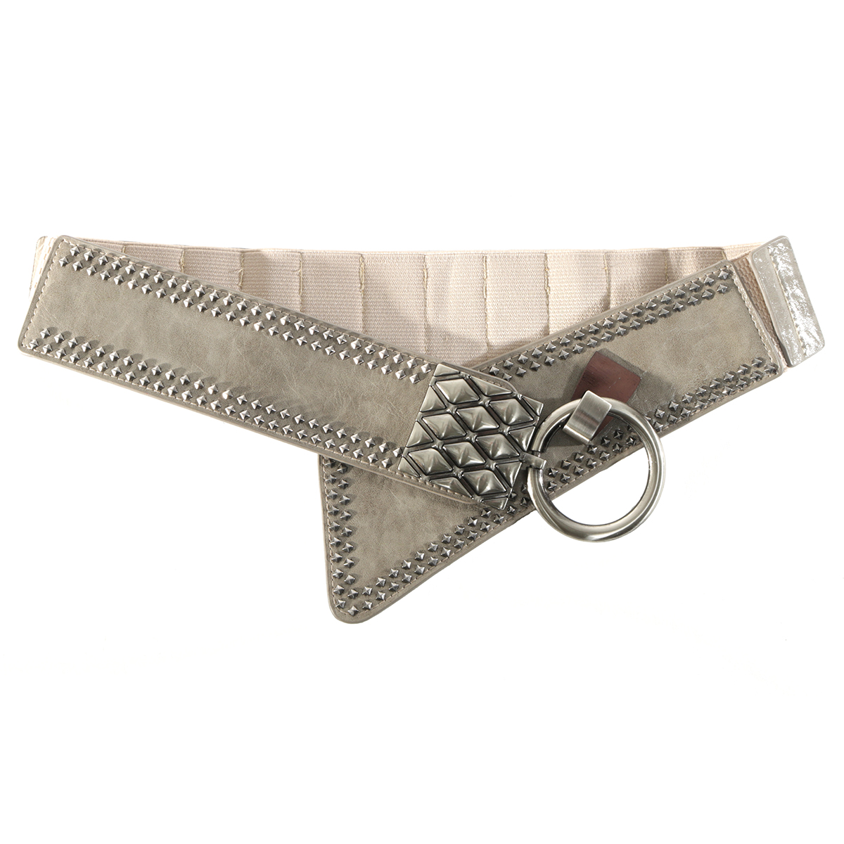 Grey Rivet Belt