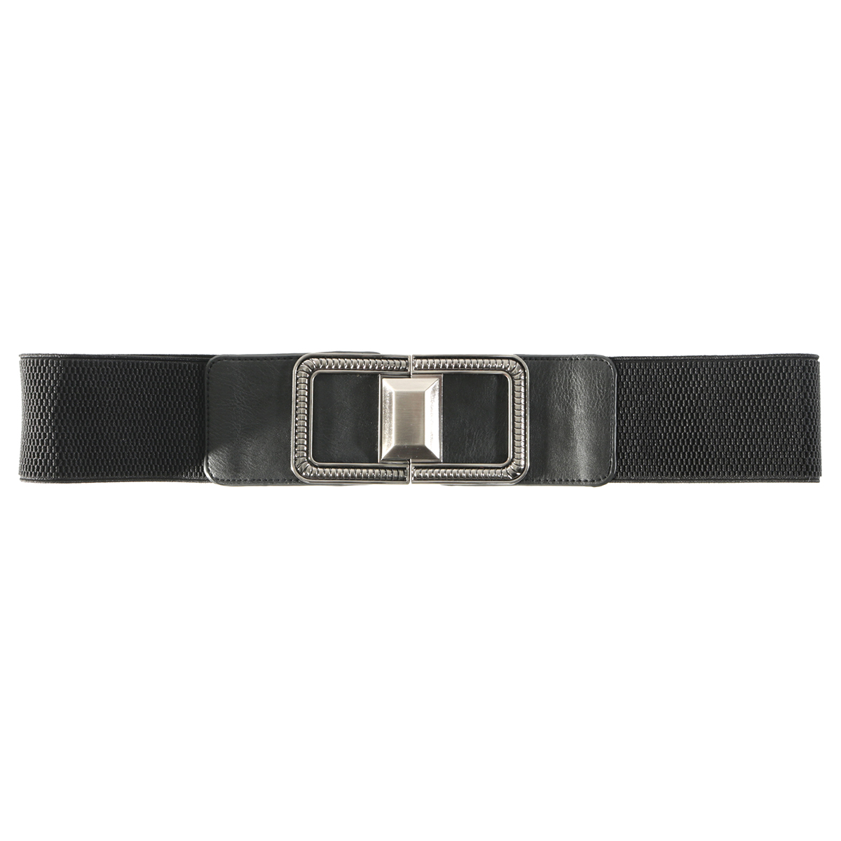Black Square Buckle Belt 70sp