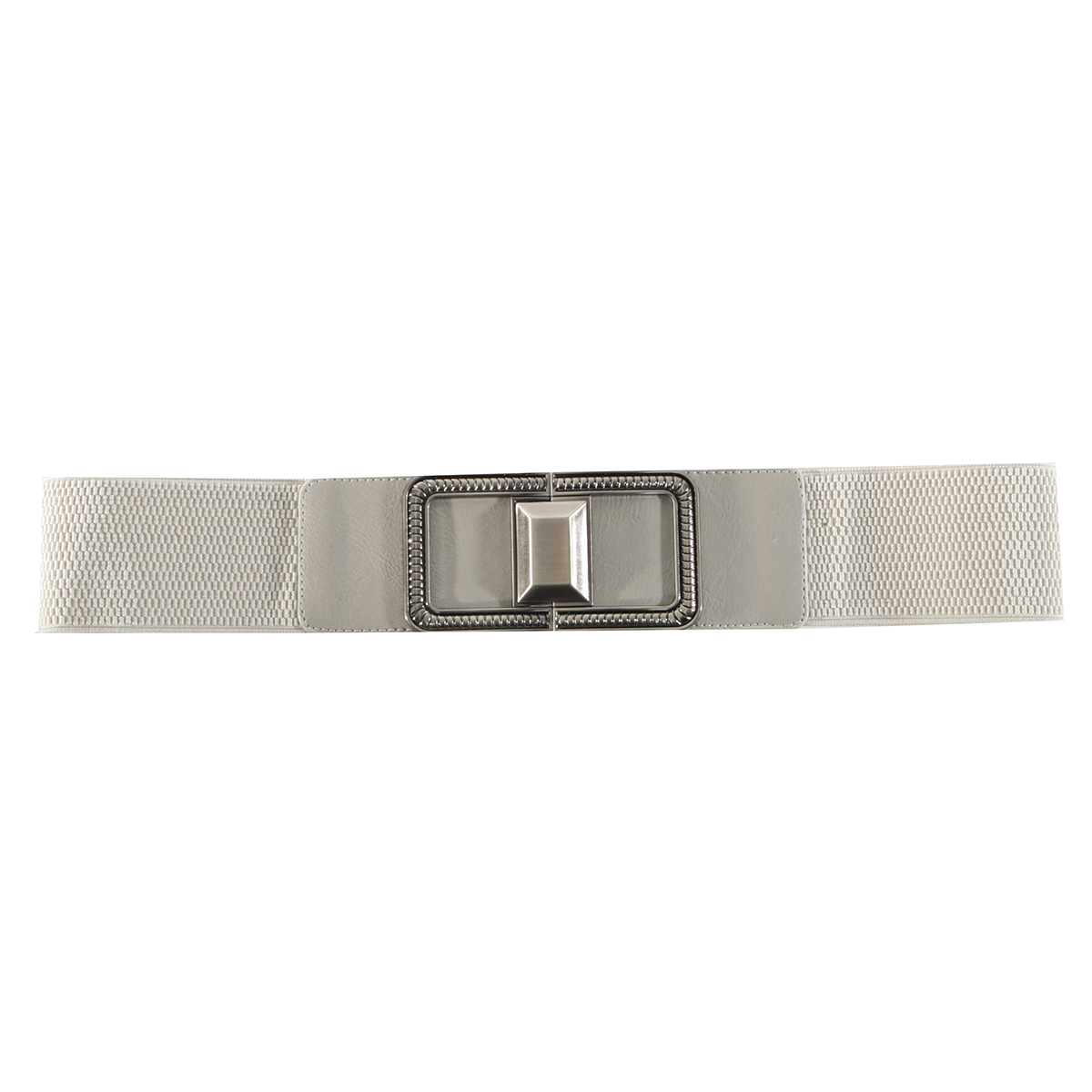 Grey Square Buckle Belt