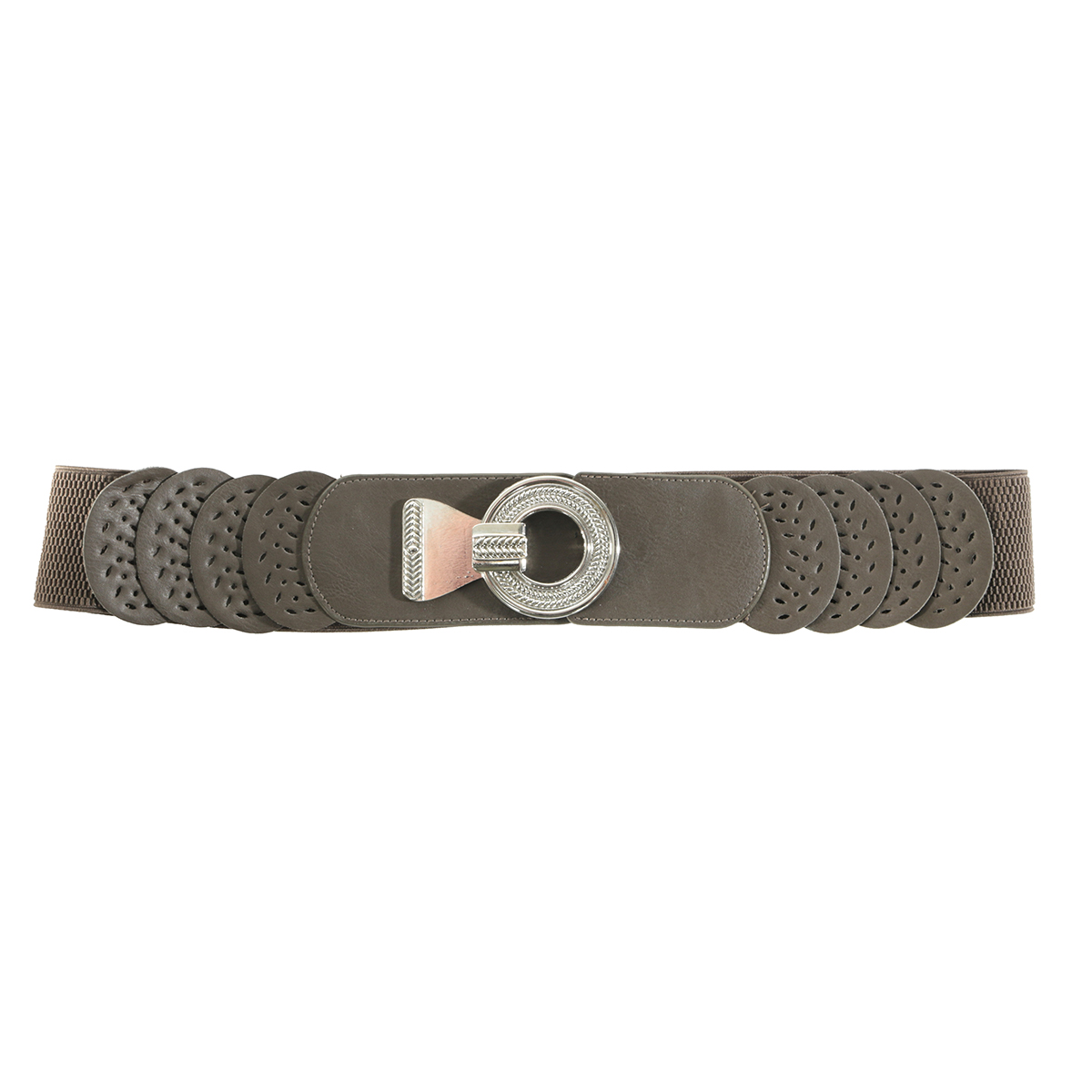 Brown Circle Buckle Belt