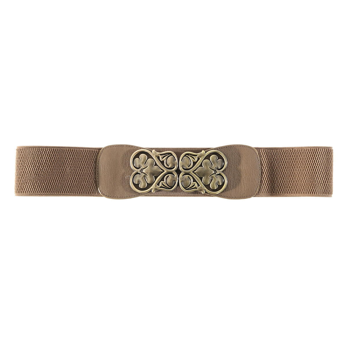 Brown Heart Buckle Belt