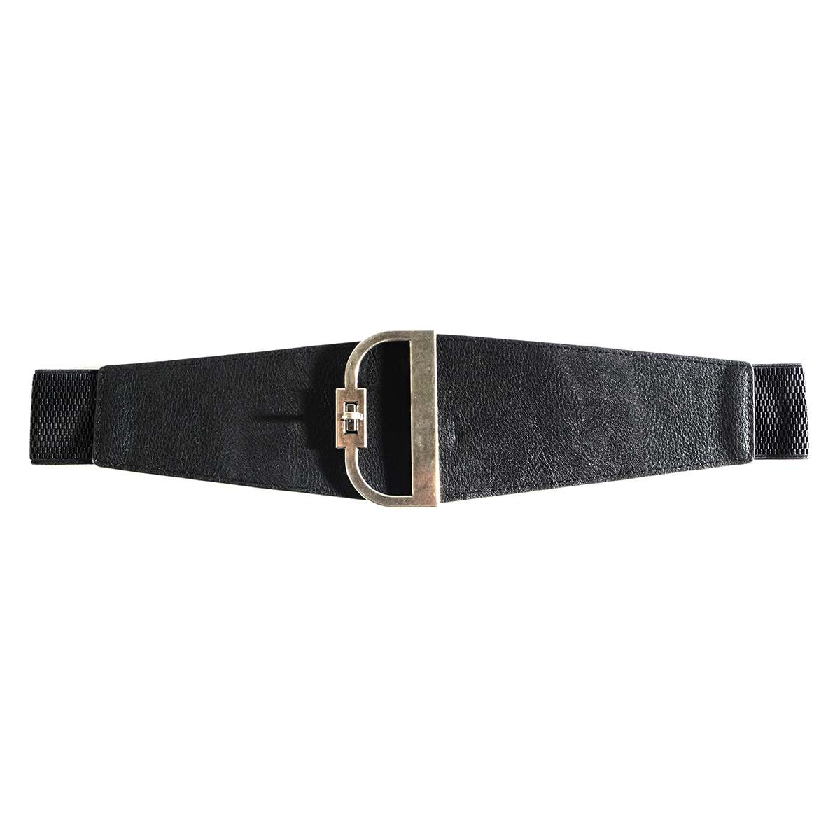 Black D Buckle Belt