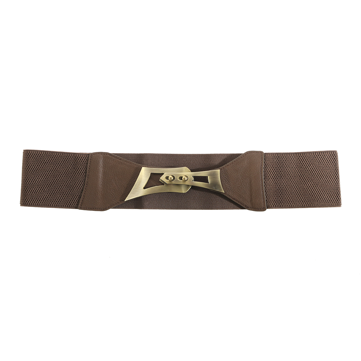 Brown Belt with Bronze Buckle
