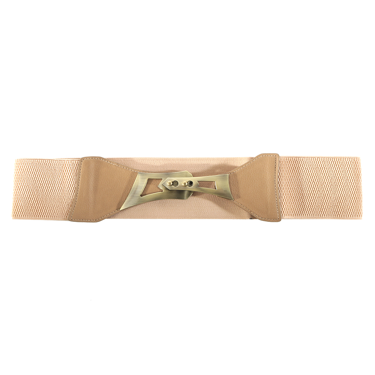 Tan Belt with Bronze Buckle