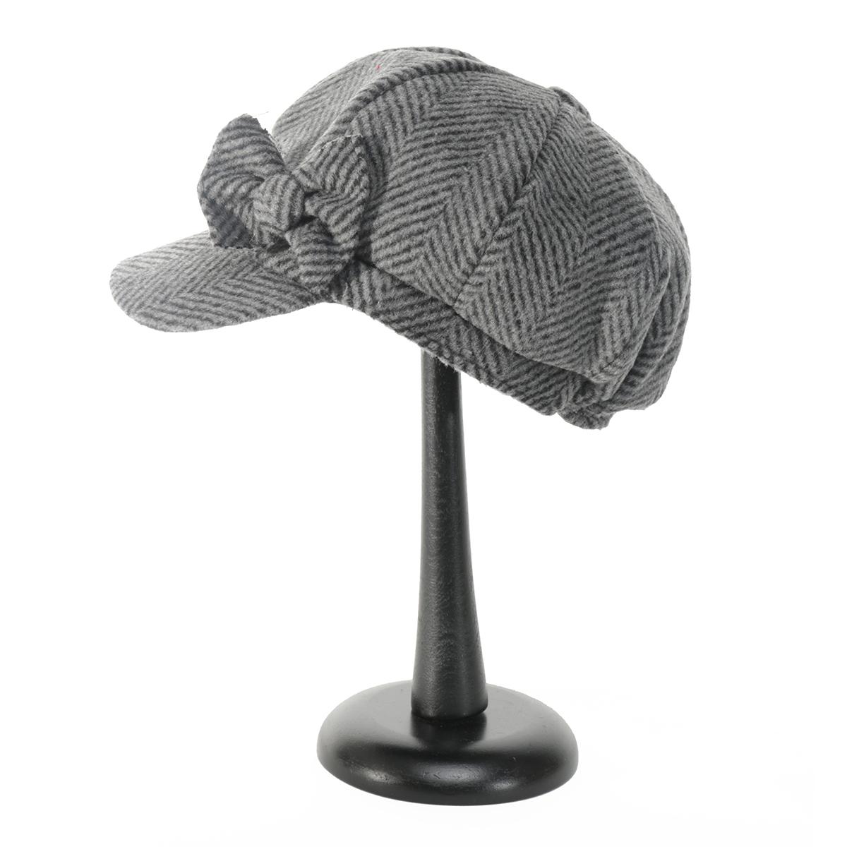 DK Grey HERRINGBONE CAP