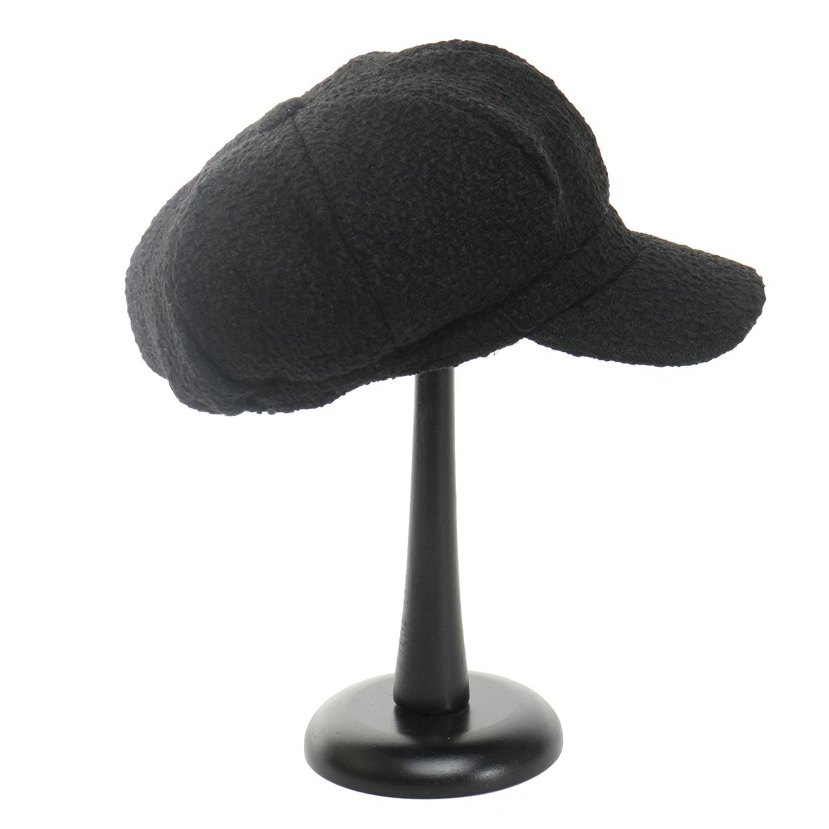 Black Button Top Cap