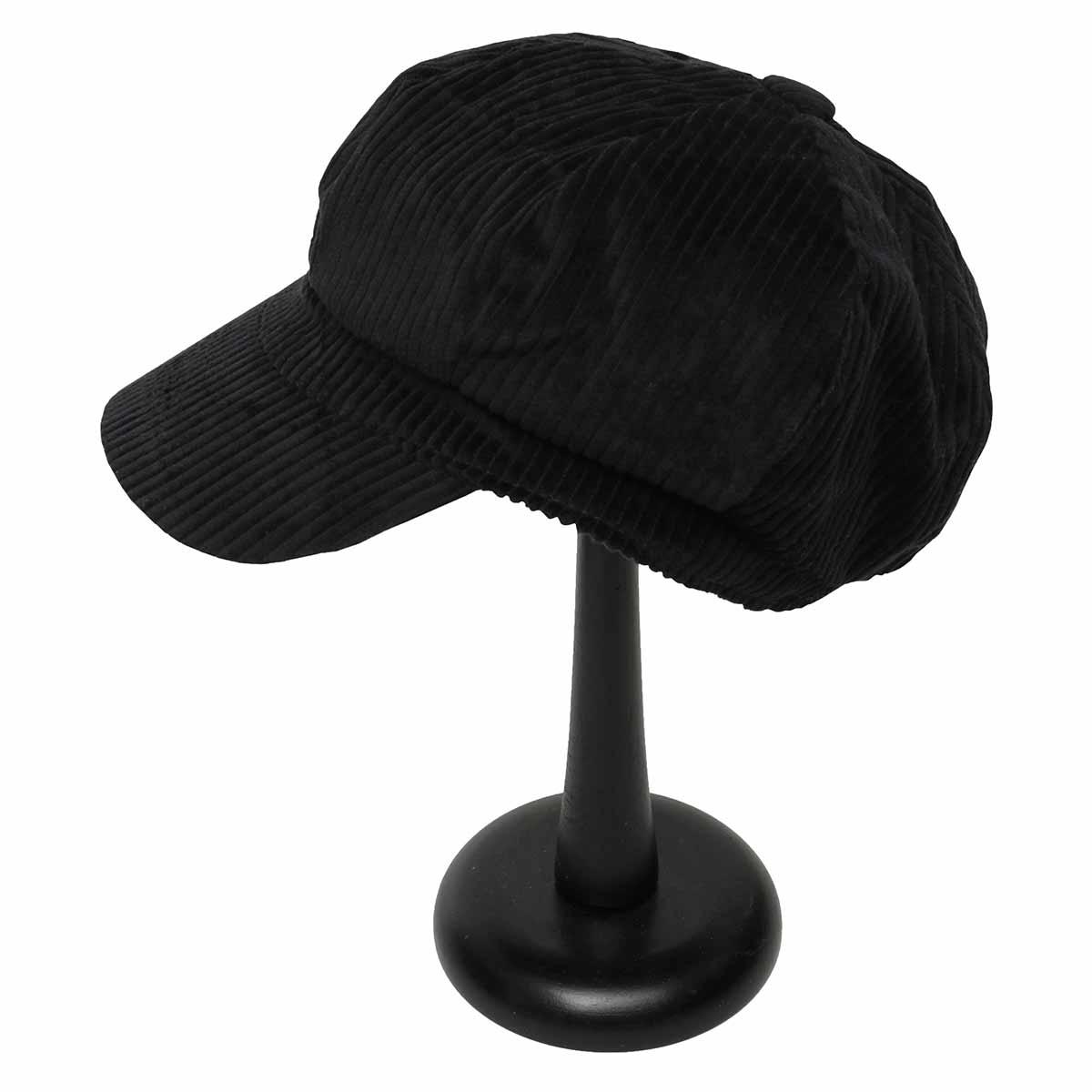 Black Corduroy Slouch Hat
