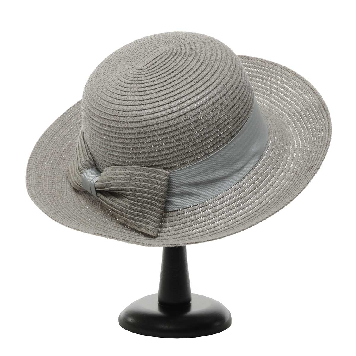 Grey Derby Day Hat with Bow