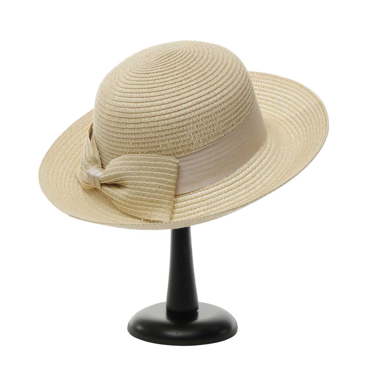 Beige Derby Day Hat with Bow
