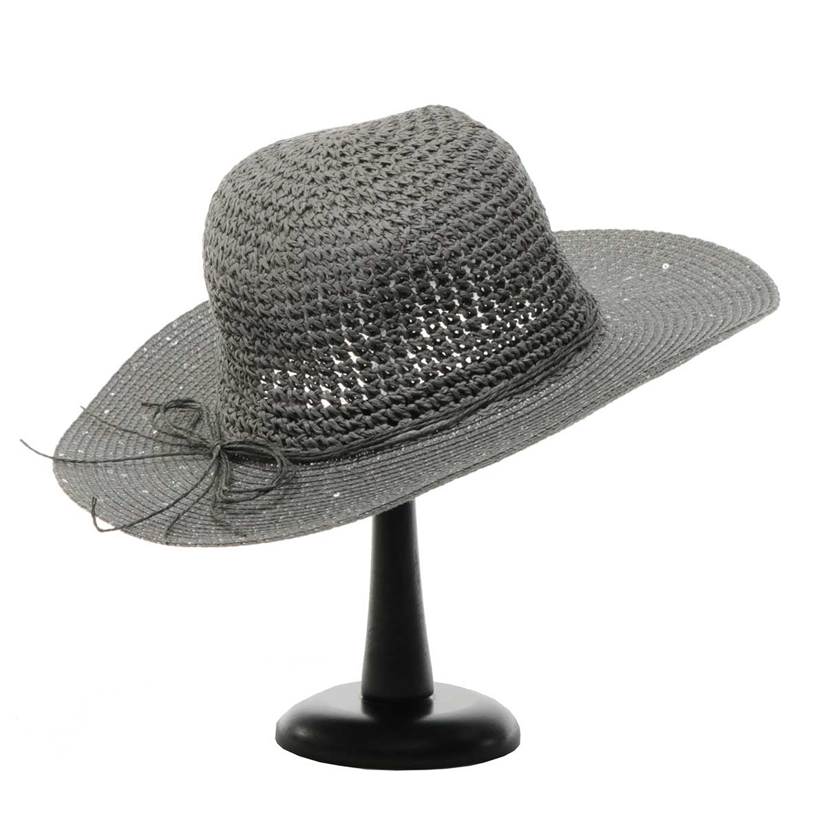 Grey Sparkle Beach Hat