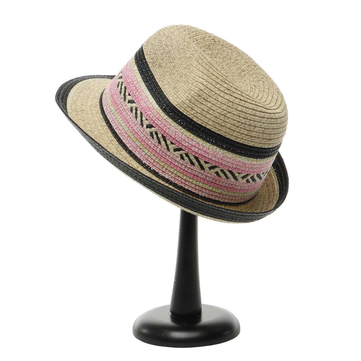 Beige Havana Hat with Decorative Band