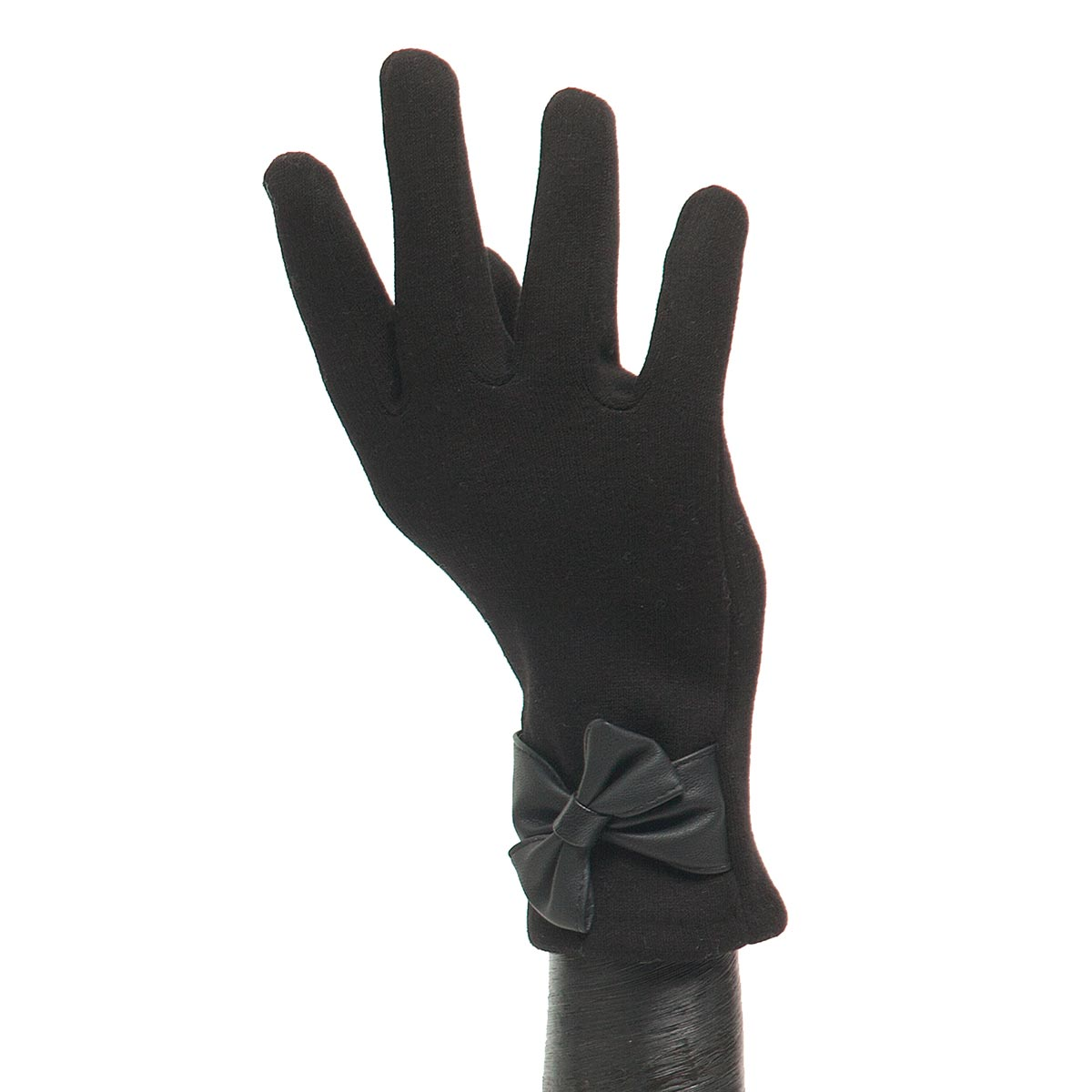 Black Glove with Black Bow X7930
