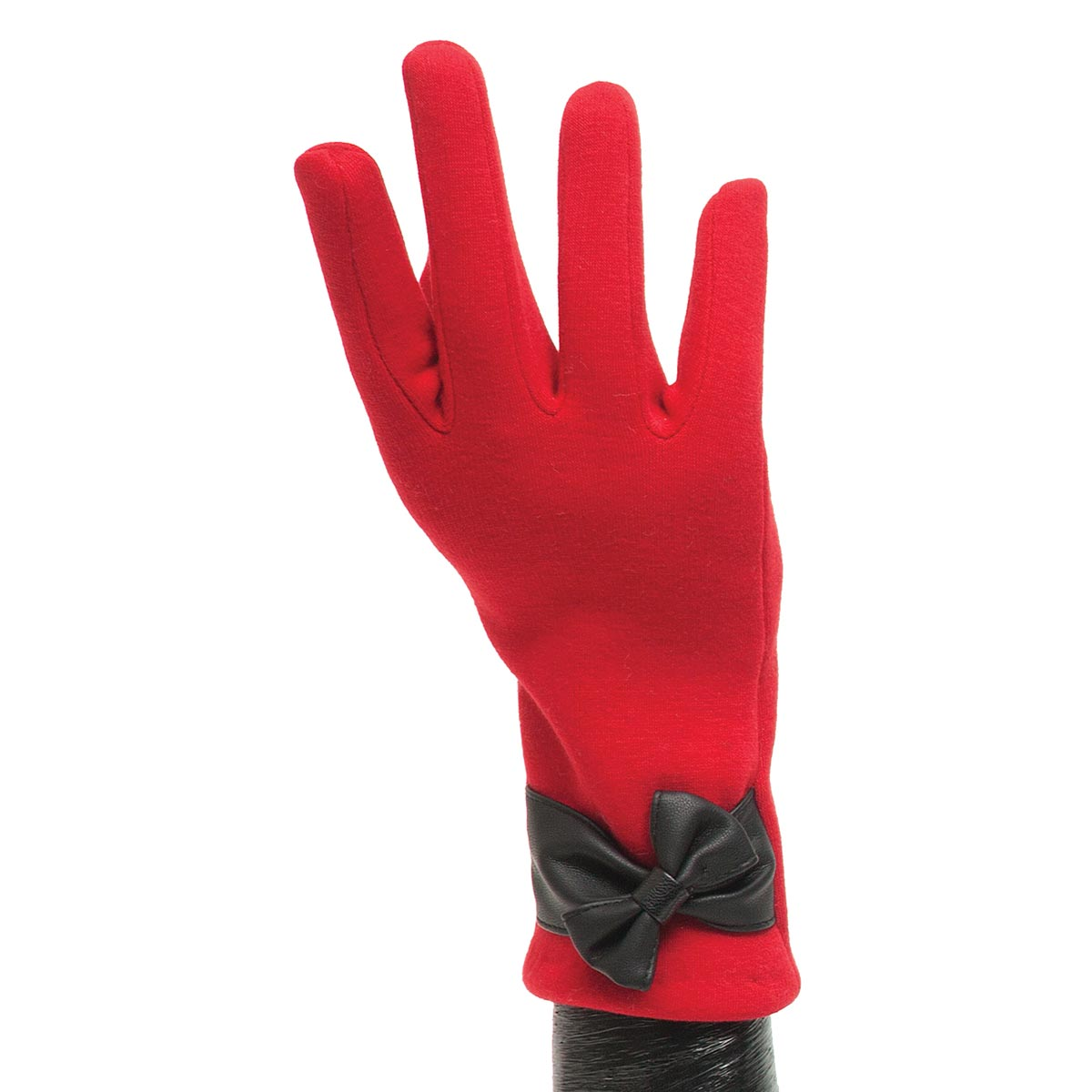 Red Glove with Black Bow X7931