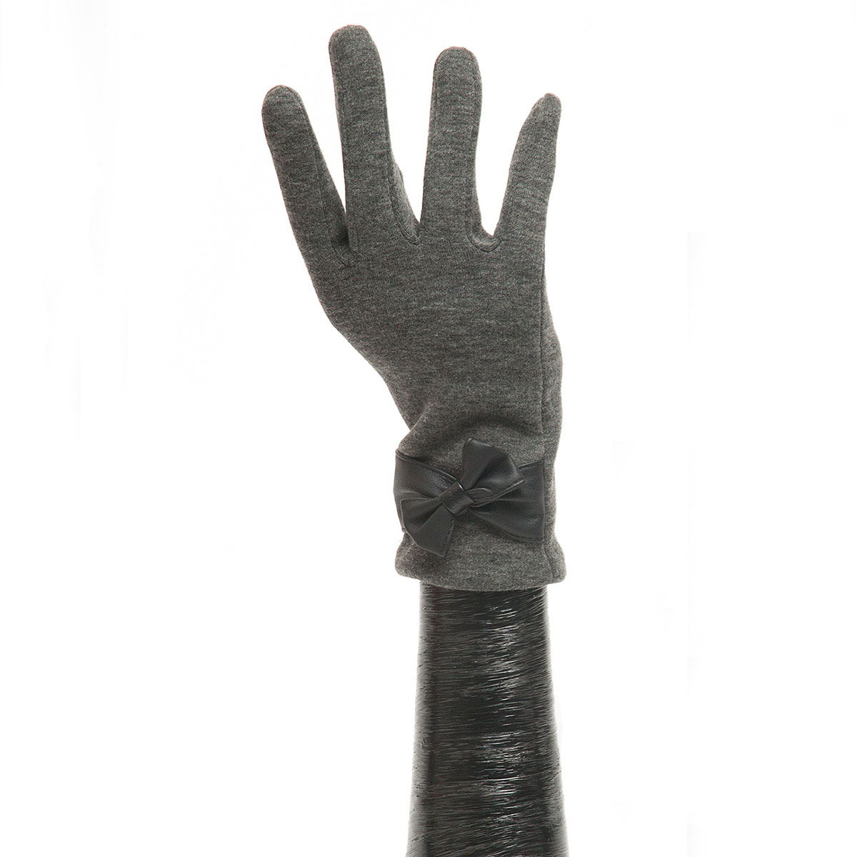 Grey Glove with Black Bow X7932