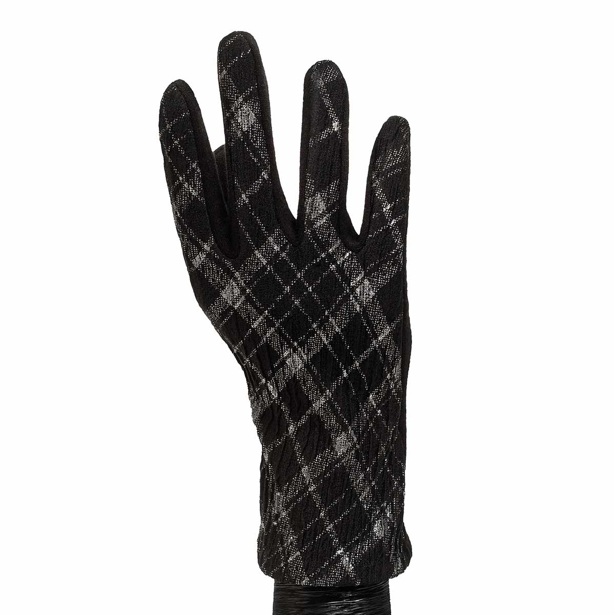 Grey and Black Argyle Gloves