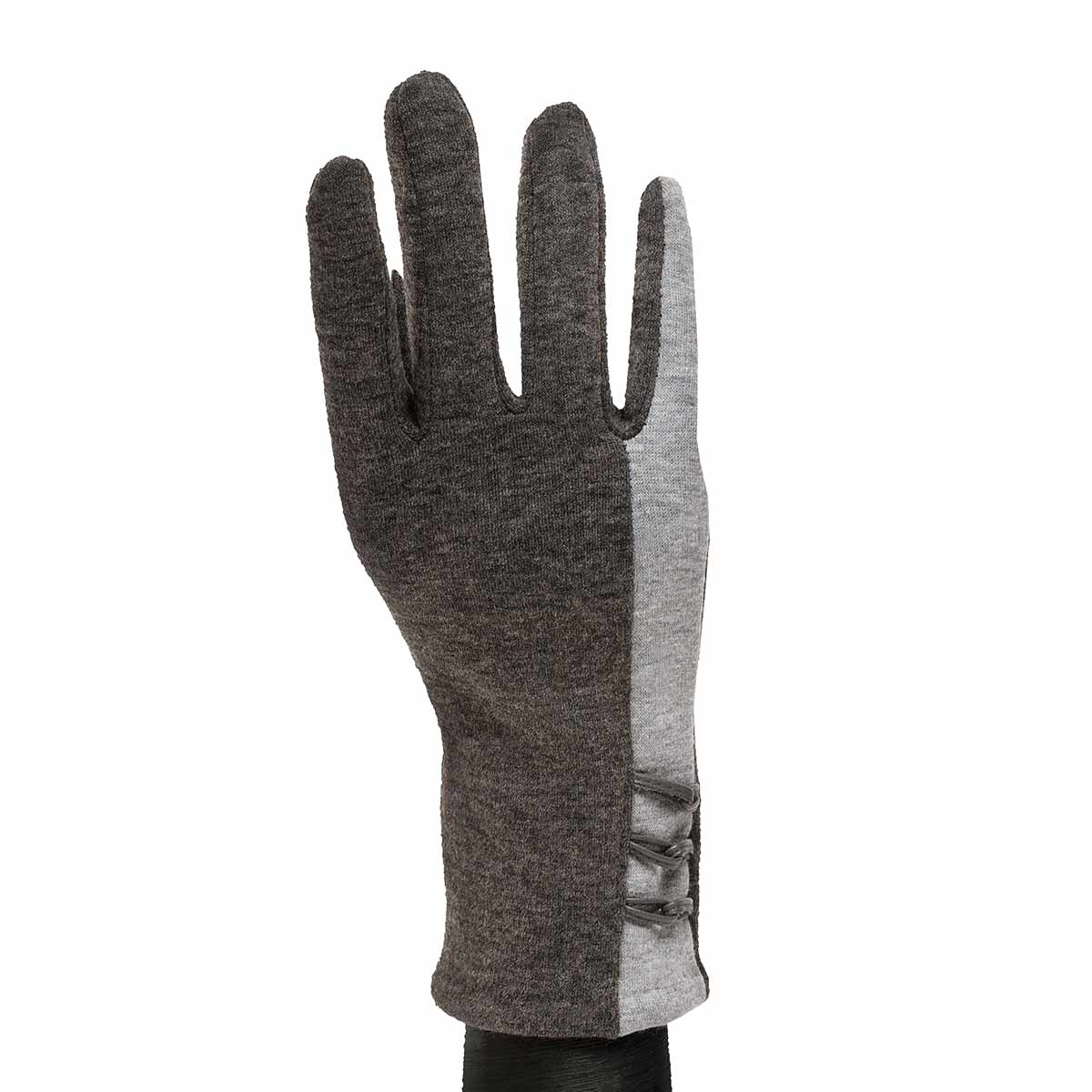 Dark Grey Gloves with Light Grey Stripe