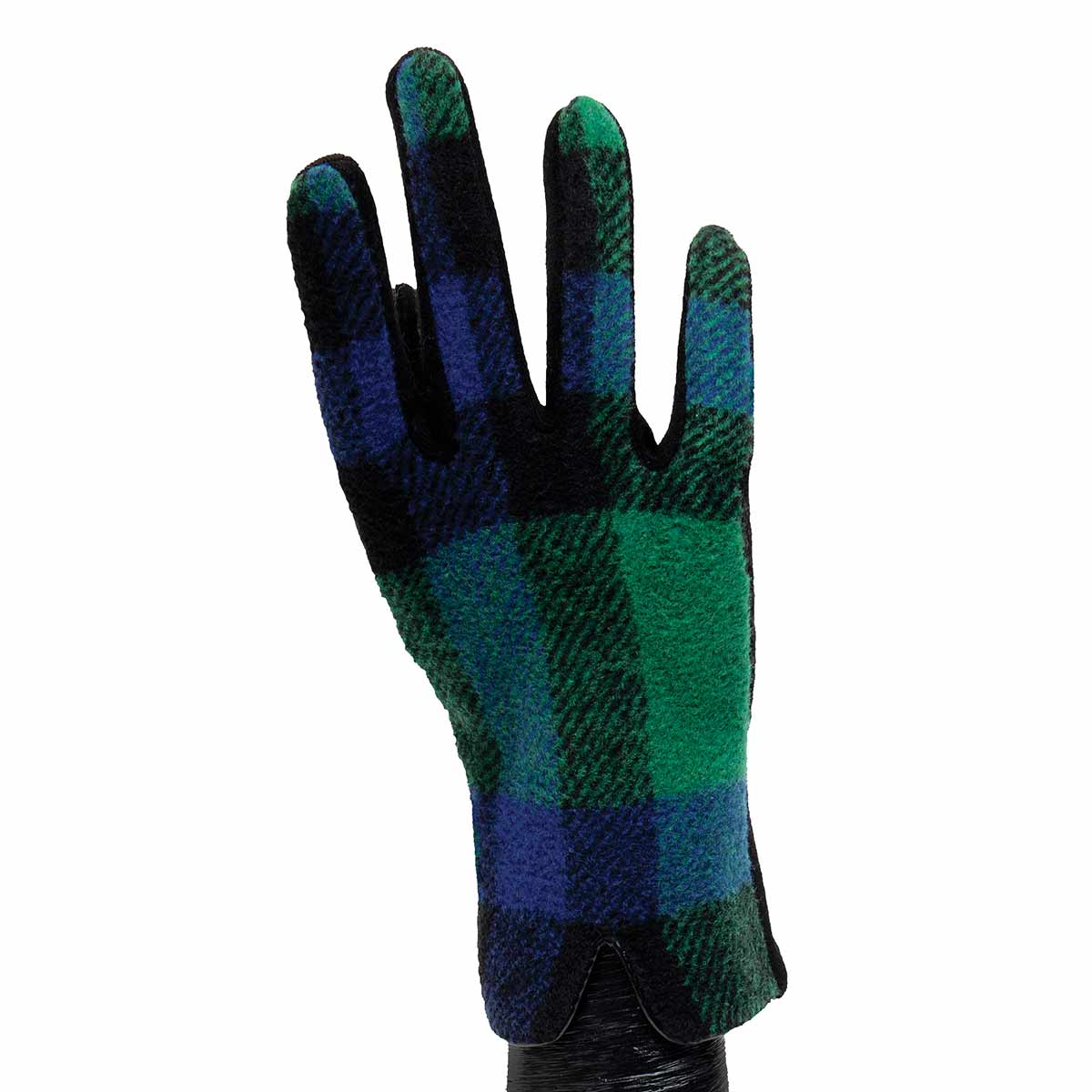 Blue, Green and Black Plaid Gloves